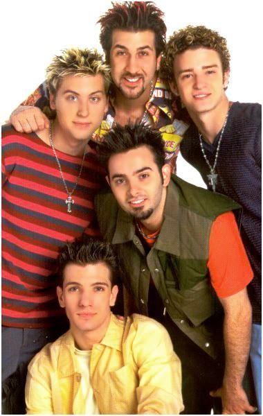 Immagine di nsync, 90s, fashion, outfit, boyband, JC chasez, Justin Timberlake, Joey fatone