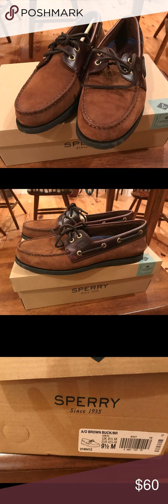 NWT Men's Sherry Suede Brown Loafers. Sz 9 1/2 NWT Men's Sherry Suede Brown Loafers. Sz 9 1/2 Sperry Shoes Loafers & Slip-Ons