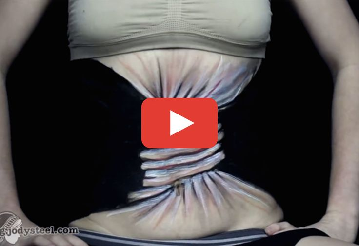Watch as artist Jody Steel completely transforms her abdomen. http://greatist.com/live/artist-jody-steel-illustrates-the-struggle-with-body-image