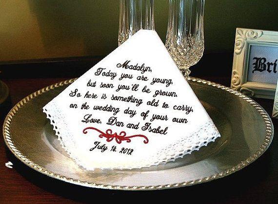 Flower Girl Wedding Gift Handkerchief  Today YOU by MisterandMrs, $22.95 #flowergirl #weddings