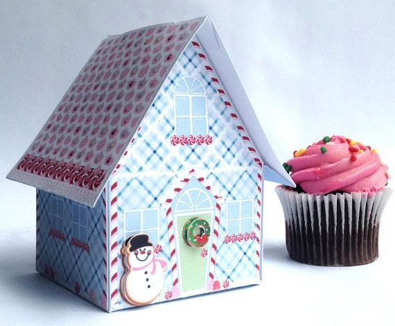 Mini Snowman Winter House Box gift giving mini gifts or use it as on ornament with treats. $7.99