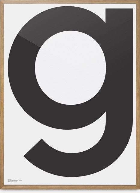G. Just a really big good looking letter in a frame- would be nice on a gallery wall!