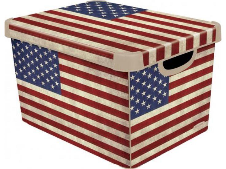 Pudełko duże z pokrywą Amerykańska flaga 29,5 x 39,5 x 25 cm CURVER http://sklep.dajar.pl/pudelko-duze-z-pokrywa-amerykanska-flaga-29-5-x-39-5-x-25-cm-curver