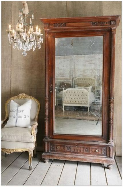 Mirrored armoire... Awesome idea!
