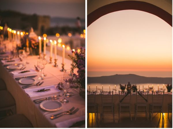 Candles are always a good idea at Weddings | Image by Sam Hurd | Stella And Moscha Exclusive Greek Island Weddings