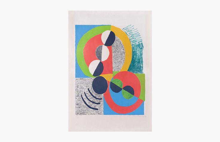Sonia DELAUNAY Lithographie 30/75 Arc - 1969 75,5x56 cm