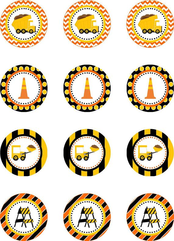 Construction Truck Party Cupcake Toppers por DBCelebrations