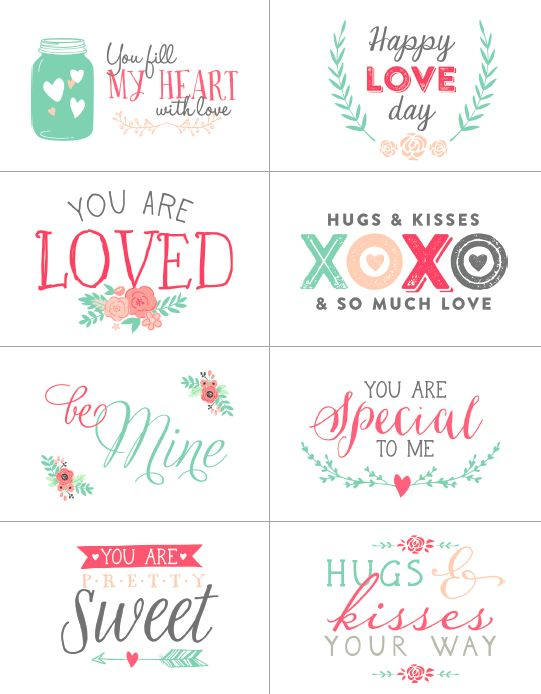 Free Valentines day labels part of a collection.