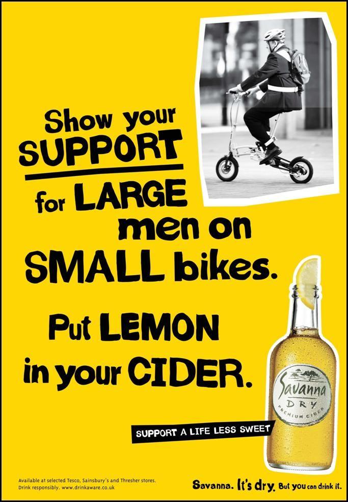 Savanna Cider 'Support a life less sweet'