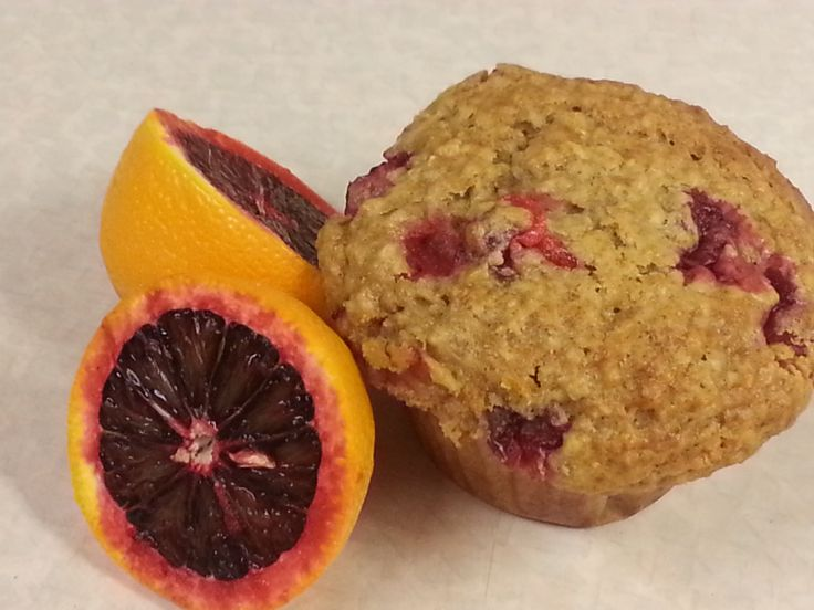 CRANBERRY OATMEAL MUFFINS WITH BLOOD ORANGE 2/3 C. 0IL 1 ½ C. BUTTERMILK  ½ C. SOUR CREAM  ZEST AND JUICE OF 1 BLOOD ORANGE 2 EGGS 1  PKG CRANBERRIES  2 TSP VAN 2 ½ C. FLOUR ½ TSP. CINNAMON 1 C. BR. SUGAR 2 C. QUICK OATMEAL 1 TSP. B. SODA 2 TSP. B. POWDER 1 TSP. SALT MIX OATMEAL AND BUTTERMILK , THEN ADD OIL, EGGS, VAN, S. CREAM, ZEST AND ORANGE JUICE, MIX, ADD CRANB.MIX FLOUR, SALT, B.SODA , B. POWDER, BR. SUGAR ,CIN ADD DRY TO WET, MIX THEN FILL GREASED MUFFIN BAKE 360 FOR ABOUT 25 TO 30…