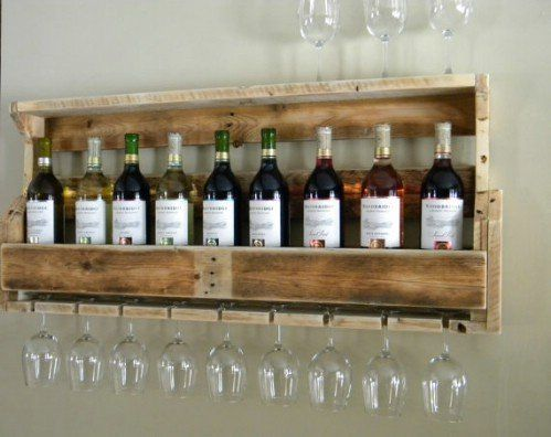 Wooden Pallet Wine Rack - 40 Rustic Home Decor Ideas You Can Build Yourself
