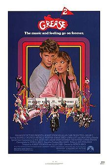 Grease 2. Maxwell Caulfield, Michelle Pfeiffer, Adrian Zmed, Lorna Luft, Didi Conn. Directed by Patricia Birch. 1982