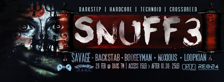 Snuff is back and sicker than ever: Bigger venue, killer lineup the same old spirit we got you used to. For this session we got you 2 top artists from the cream of Budapest hardcore scene for a massive bloodbath.