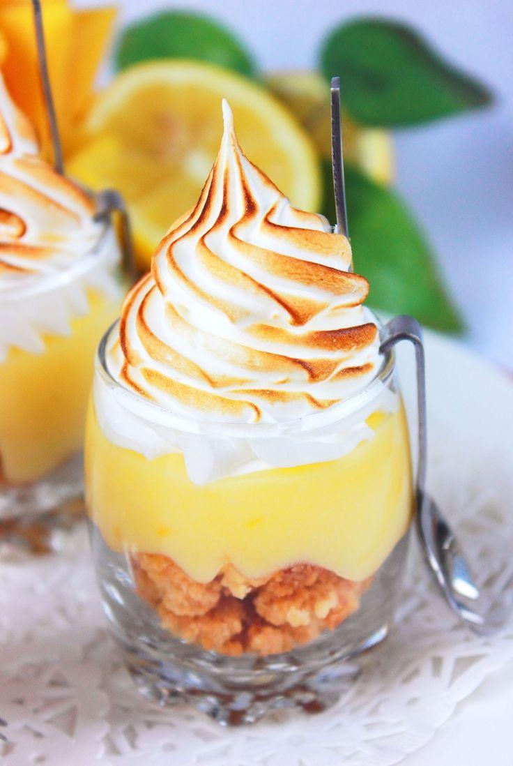 """Tarte au citron meringuée, revisitée version verrine - """" Les Gourmandises De Amela ..."""""""