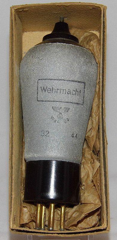 Vintage Wehrmacht-Labeled Vacuum Tube,Telefunken RENS 1294, WWII Era. This is what we us in http://www.altum.in/en/