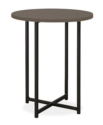 Introduced in 1990, the versatile Classic end table features a clean, simple design that's easy to personalize. Start with a hand-welded natural steel base and choose from an array of top options to create a look you love. Please note: overall height may vary slightlydepending on the top material you select.