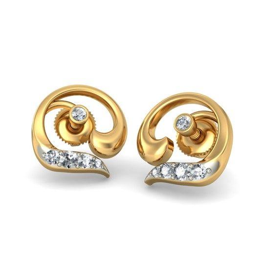 The Malva Earrings | Diamond Earring In 18Kt Yellow Gold