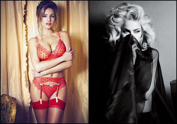Kelly Brook's style icon was Madonna