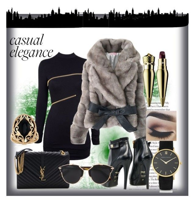 Casual Elegance by raluca-belu on Polyvore featuring polyvore, fashion, style, Agent Provocateur, Kim Kwang, Yves Saint Laurent, Larsson & Jennings, Ross-Simons, Christian Dior, Christian Louboutin, women's clothing, women's fashion, women, female, woman, misses and juniors
