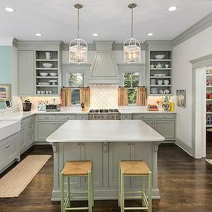 Grey Cabinets Contemporary Kitchen Benjamin Moore Fieldstone Colordrunk Design Kitchen