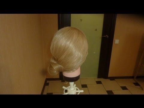 Easy hairstyle with a bun