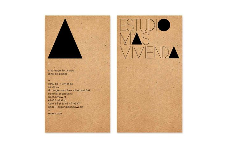 Estudio + Vivienda - Business Card Design Inspiration | Card Nerd