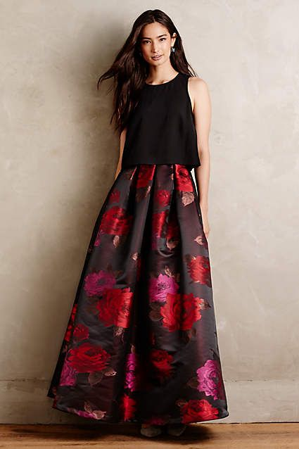 Composer Floral Ball Skirt - anthropologie.com
