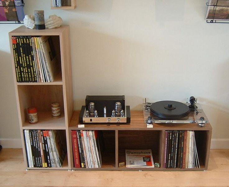 vinyl storage this might work under the window. Black Bedroom Furniture Sets. Home Design Ideas