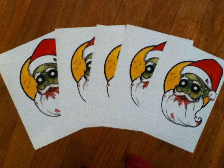 Zombie Santa prints