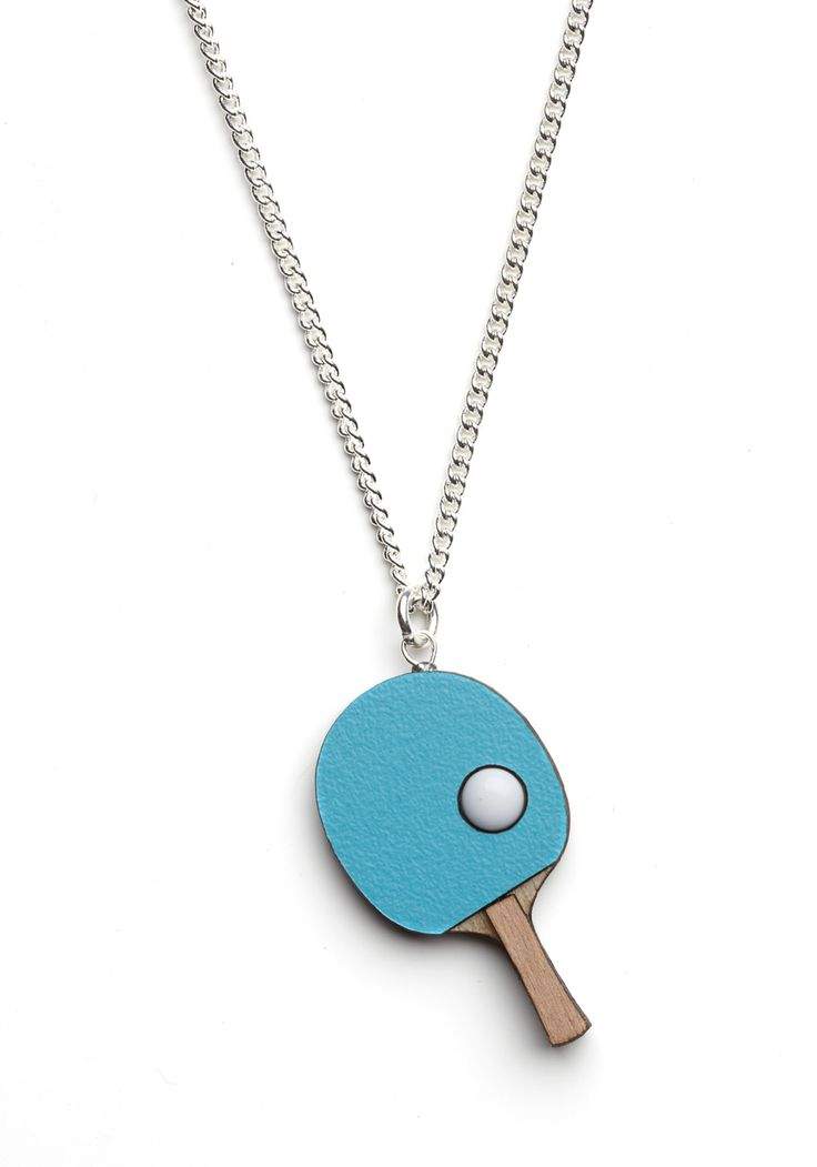 Gone to Ping Pong Necklace. Youre completely on the ball when it comes to fun jewelry, and no one will doubt it when you slip on this charming ping pong necklace by British designer Tatty Devine! #red #modcloth