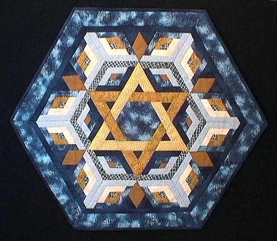 Rachel's Star of David Hexagon Custom Wall or Table by jubillee8