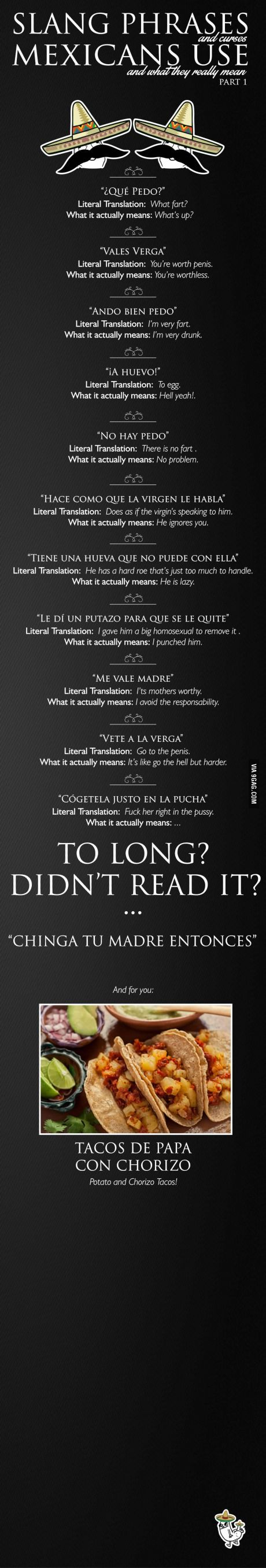 Sh*t Mexicans say, I love being Mexican... made this for you my 9gag amigos around the world! Hope you like it