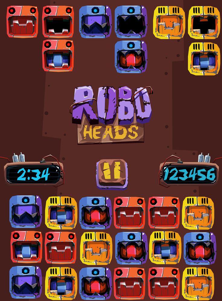 frogo-robo-heads on Behance