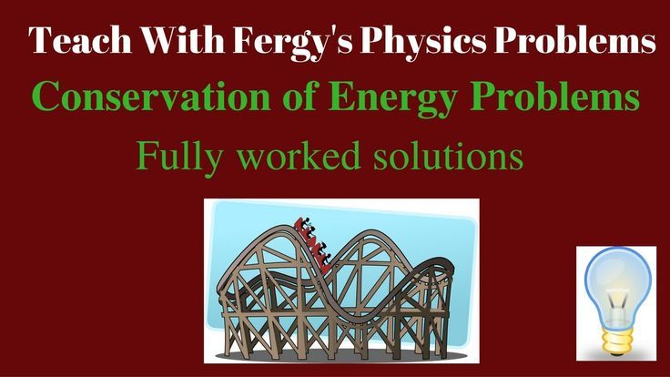 Conservation of Energy Problems - Full Video Walkthroughs. Includes kinetic and gravitational potential energy as well as the total energy of a system and thermal energy conservation.  For more problems please visit http://www.teachwithfergy.com/teach-with-fergys-physics-problems/