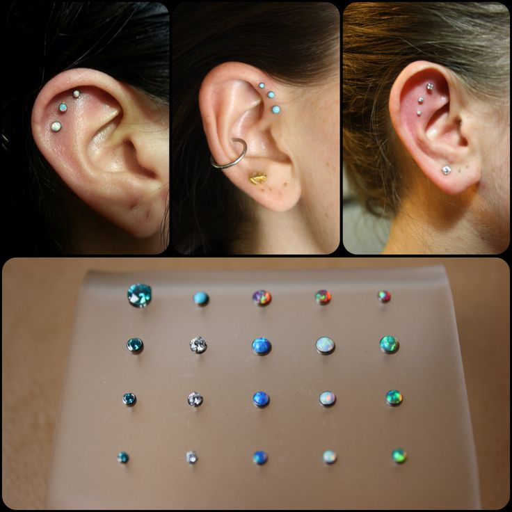love the middle one - triple forward helix