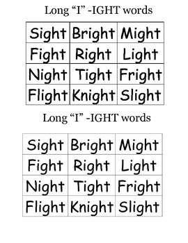 Printables Ight Words Worksheet 1000 images about ight word activities on pinterest cut and long i words