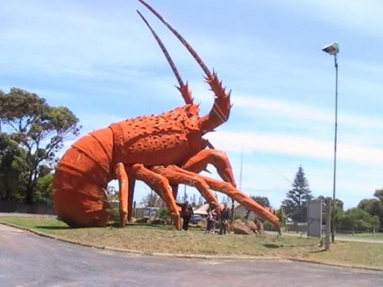"""Big Lobster. Kingston. South-East. South Australia."" One of my sisters retired to Kingston."