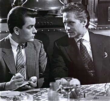 Charlie Sheen and Michael Douglas at the 21 Club in 1987's Wall Street.