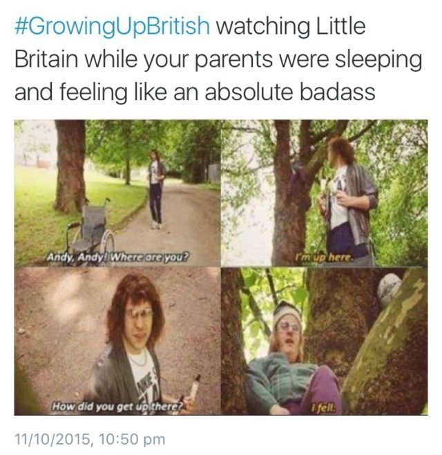 Pinterest Sydharrisx Little Britain Little Britain British Memes Growing Up British