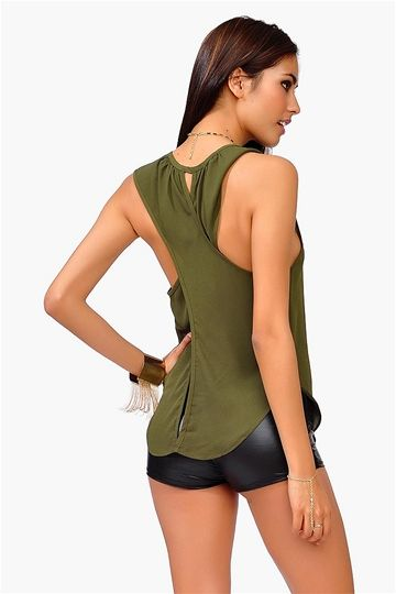X Marks The Spot Top - Olive