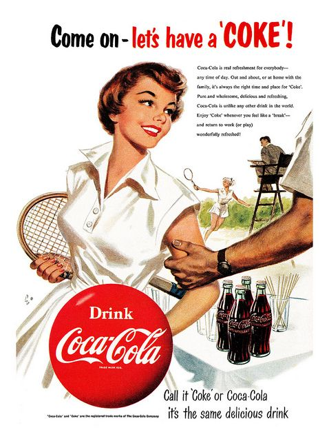 1954 Coca-Cola ad by totallymystified on Flickr.
