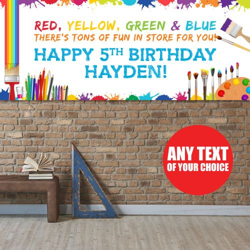 Little Artist GIANT PERSONALIZED Banner Party Supplies Canada - Open A Party