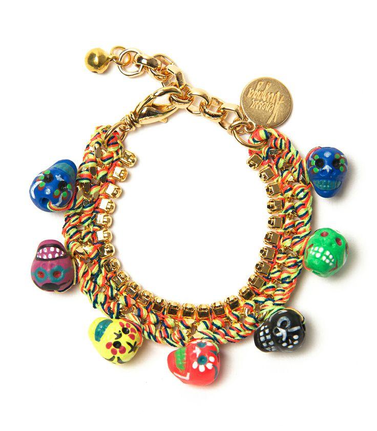 New Jewelry Arrivals on #ShopBAZAAR - Venessa Arizaga 'Arena Mexico' Gold Charm Bracelet