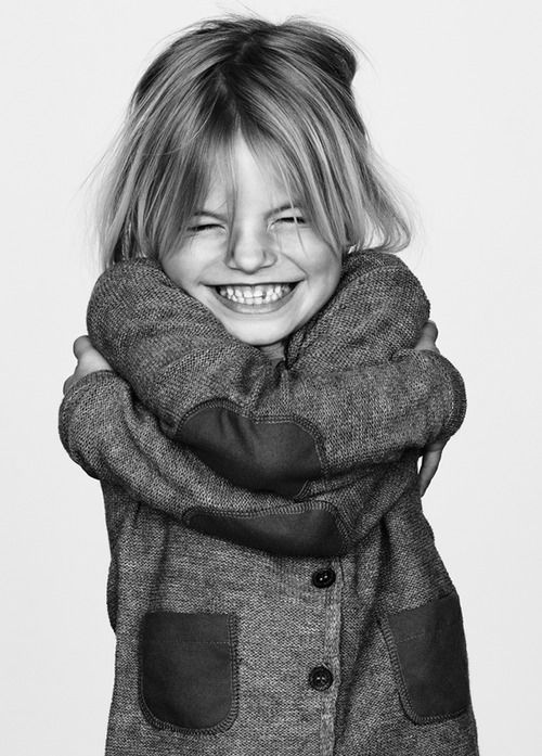 Smile for me!Elbow Patches, Happy, Kids Fashion, Baby Face, Mean Girls, Black White, Children, Photos Style, Kidsfashion