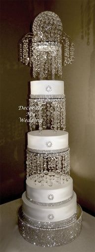 wedding cakes with crystals shabby chic shabby and crystals on 26009