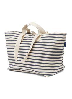 PrettyCoolBags sailor stripe bag baggu