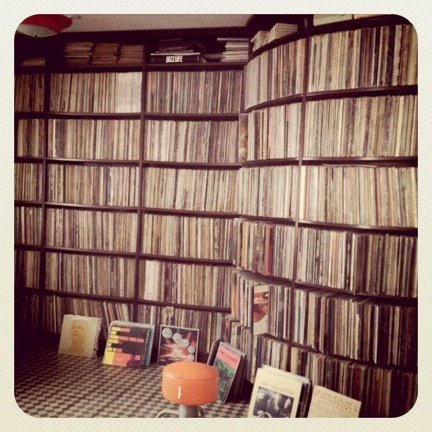 collection of vinyl records- drooling.  I could be in here for days...second only to a used book store.