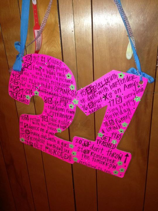 21st #birthday #sign , Cuter shape for sign but I like the feathers & bling on the other