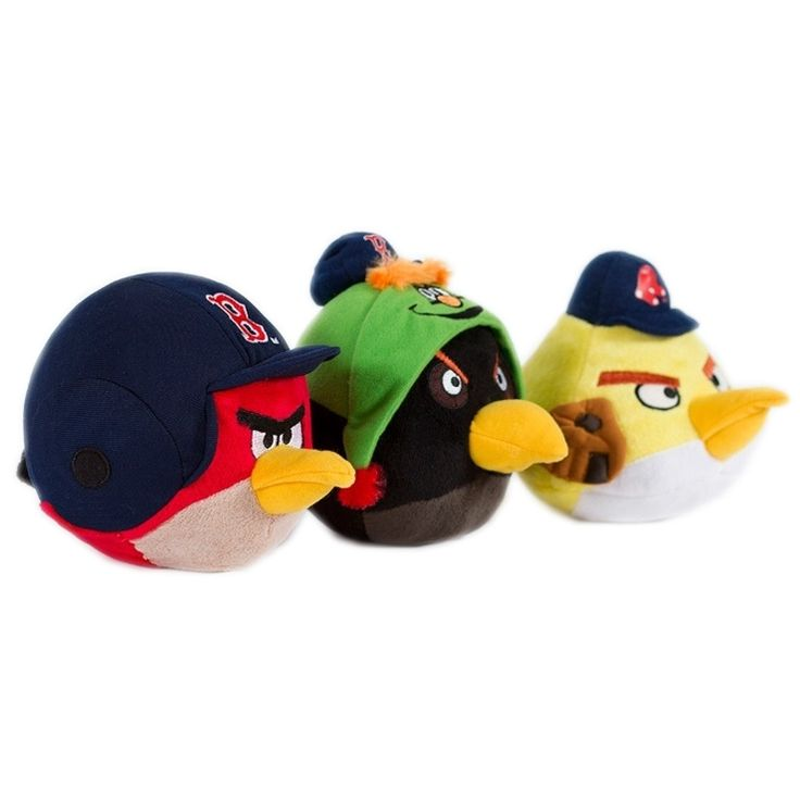 Simon Sez Boston Red Sox Angry Birds for dogs combines team spirit with your favorite characters from Angry Birds into a fun plush toy for your four-legged baseball fan. Officially licensed. Sold as each.