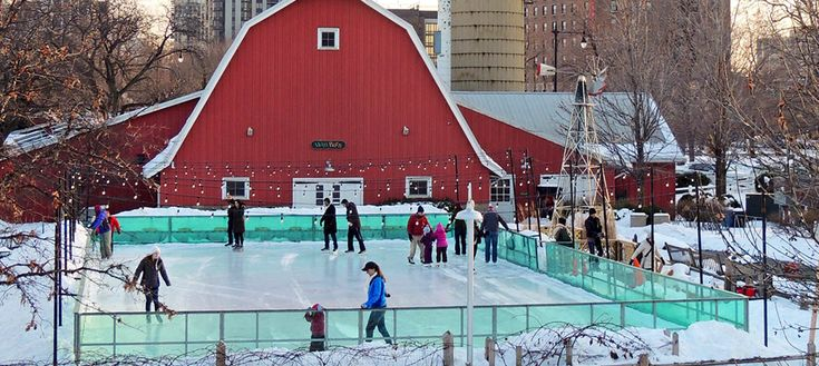 Lace up your ice skates and become part of a new winter tradition at the rink at Lincoln Park Zoo's Farm-in-the-Zoo through March 1st.